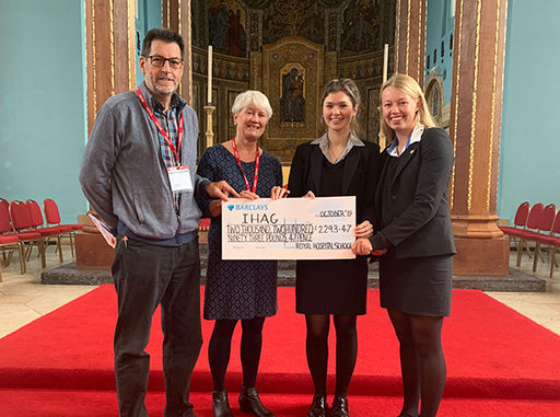 RHS Charity Cheques Out