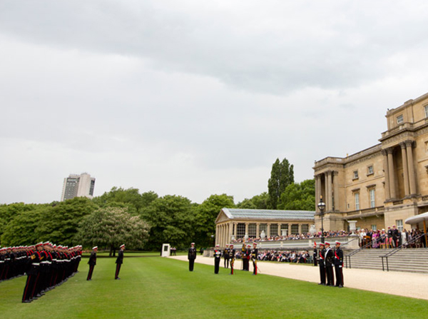 RM 350 Parade at Buckingham Palace